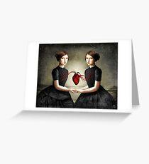 Twin Heart Greeting Card