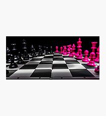 Chess Board Photographic Print