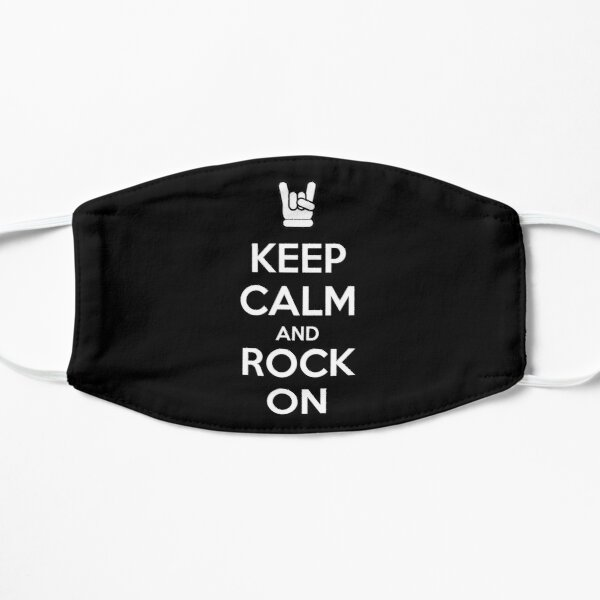 Keep Calm and Rock On (dark) Mask