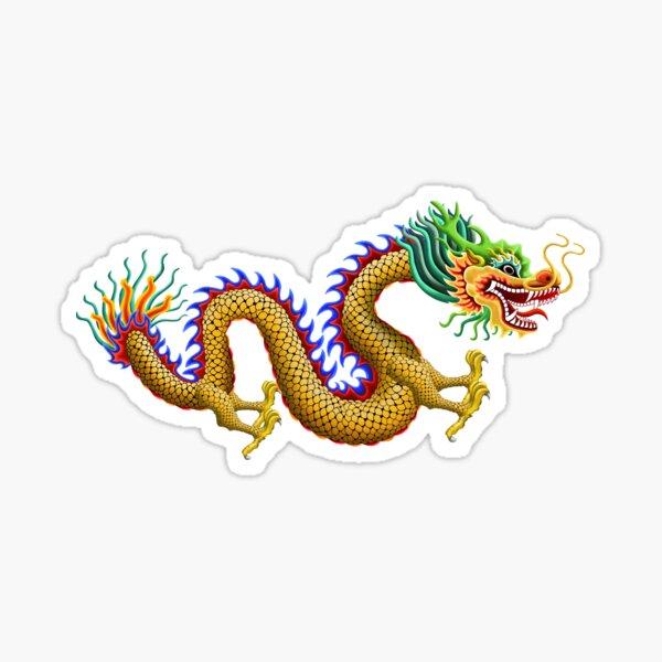 Gold Chinese Dragon Sticker