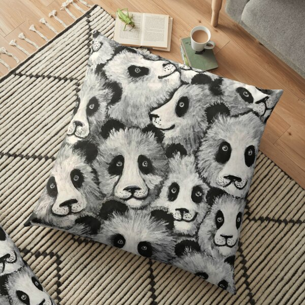 Pile of Pandas, Cute Giant Panda Black and White Bear Floor Pillow