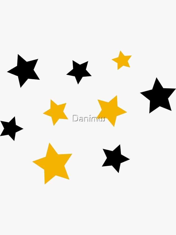Black and Gold Stars by Danimw