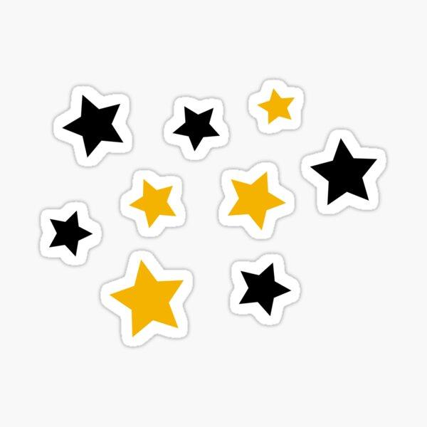 Black and Gold Stars Sticker