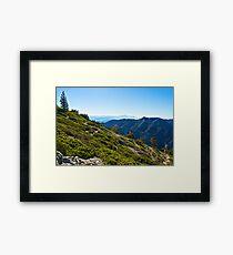 Mt. Baldy - Blue Cloud Layer Framed Print