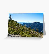 Mt. Baldy - Blue Cloud Layer Greeting Card