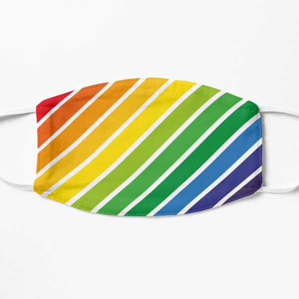 Colorful Rainbow Diagonal Stripes Design Pattern Mask
