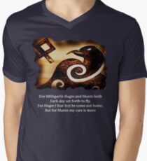 Odin's Raven Muninn Mens V-Neck T-Shirt
