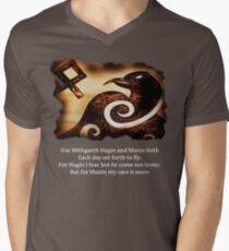 Odin's Raven Muninn Mens V-Neck T-Shirt