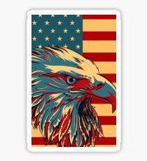American Patriotic Eagle Bald Sticker