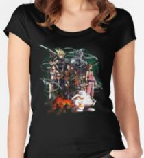 Final Fantasy VII - Collage Women's Fitted Scoop T-Shirt