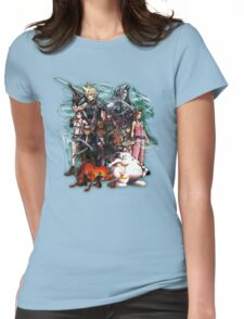 Final Fantasy VII - Collage Womens Fitted T-Shirt