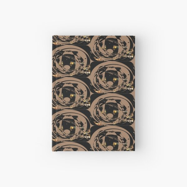 picturesque port at night Hardcover Journal