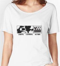 Lights.Camera.Action. Movie Maker T-Shirt Women's Relaxed Fit T-Shirt