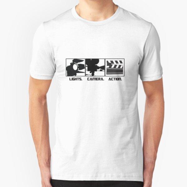 Lights.Camera.Action. Movie Maker T-Shirt Slim Fit T-Shirt