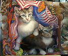 Completed painting...Kittens Day At The Beach by Barbara Sparhawk
