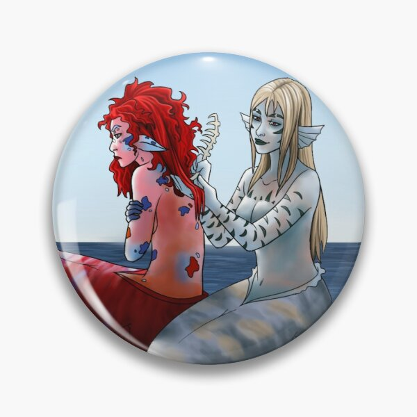 Mermaids Brushing Hair Pin