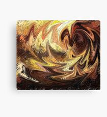 Terrestrial Brush Strokes  Canvas Print
