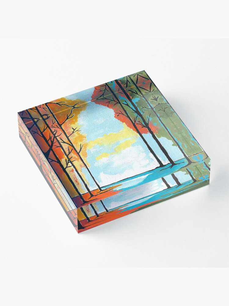 Alternate view of Autumn Forest Acrylic Block