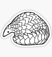 Save the Pangolins Sticker