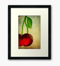 Vintage Cherries Framed Print