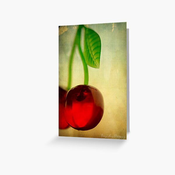 Vintage Cherries Greeting Card