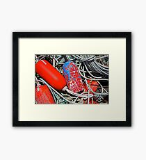 Buoys & Ropes Framed Print