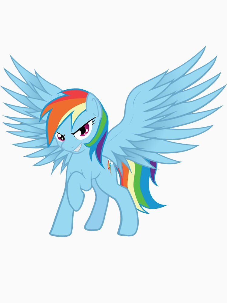 Rainbow Dash with Spread Wings | Unisex T-Shirt
