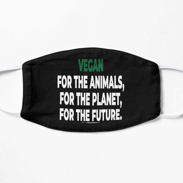 Vegan Activist Graphics #takingblindfoldsoff 78 Flat Mask