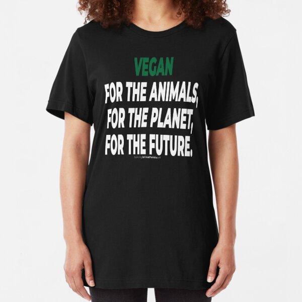 Vegan Activist Graphics #takingblindfoldsoff 78 Slim Fit T-Shirt