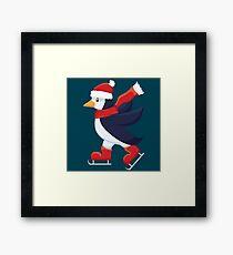 Skating penguin Framed Print