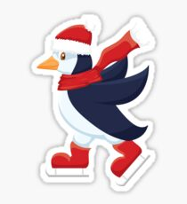 Skating penguin Sticker