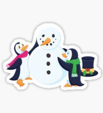 Snowman penguins Sticker