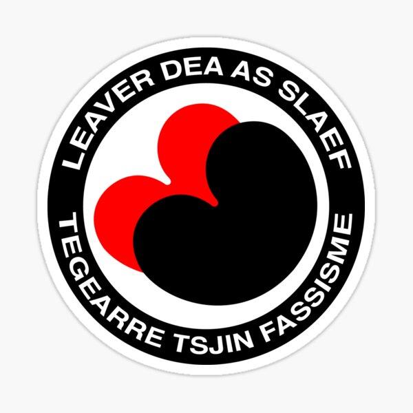 Liever dood dan slaaf Fries Frysk seeblatt Sticker