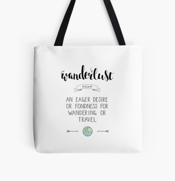 Wanderlust Definition - Adventure All Over Print Tote Bag