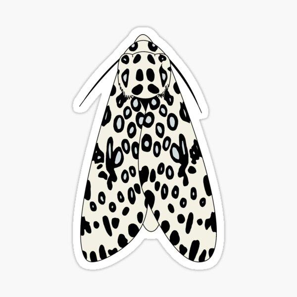 Giant Leopard Moth Sticker