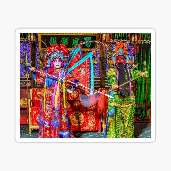 Sichuan Opera Duo Sticker