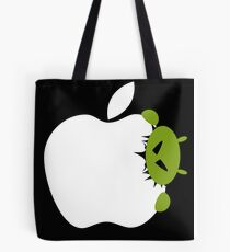 Android Bite Apple Tote Bag
