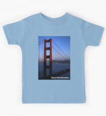 Golden Gate Bridge at Sunset Kids Tee