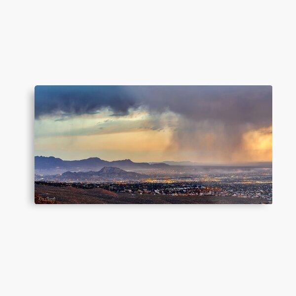 Sunset on El Paso, Texas and Mount Cristo Rey Metal Print
