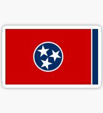 Pegatina Bandera del estado de Tennessee - Estados Unidos Nashville Memphis - Etiqueta engomada de la camiseta de la colcha