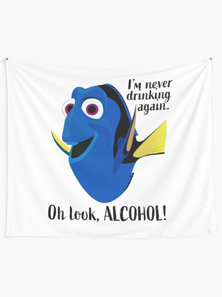 Alternate view of Dory I'm Never Drinking Again Tapestry