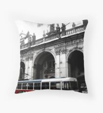 Red Tram Throw Pillow