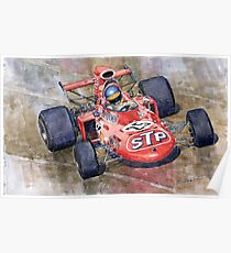 March 711 Ford Ronnie Peterson GP Italia 1971 Poster