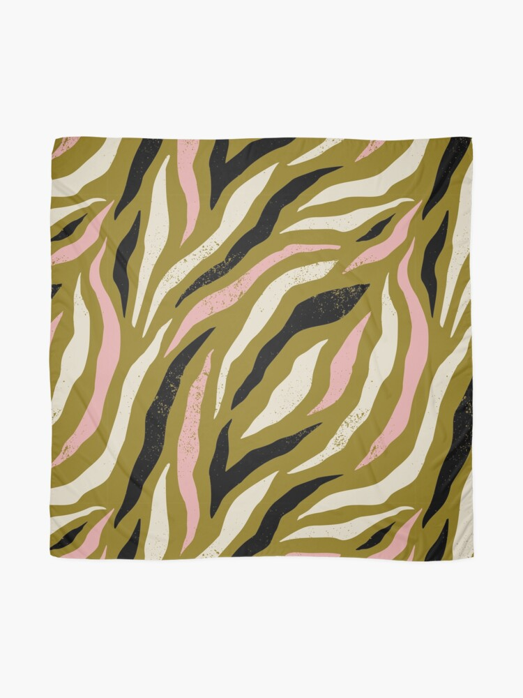 Alternate view of Background with colorful zebra skin pattern. Trendy hand drawn textures. Scarf