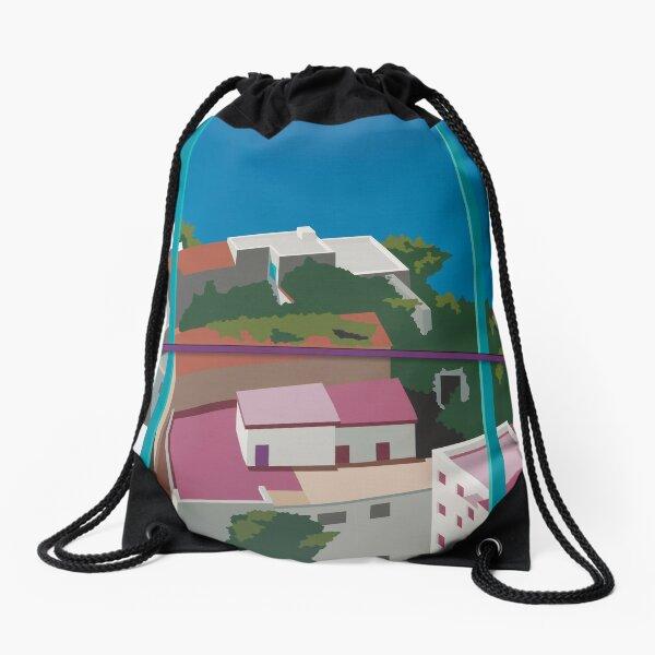 Amalfi Coast Drawstring Bag