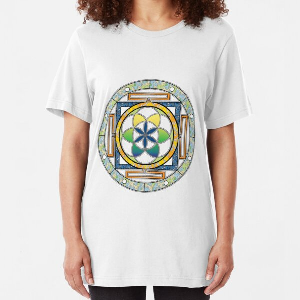 Celtic Circle Design Slim Fit T-Shirt