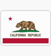 California USA State Flag Bedspread Duvet T-Shirt - Californian Sticker Sticker