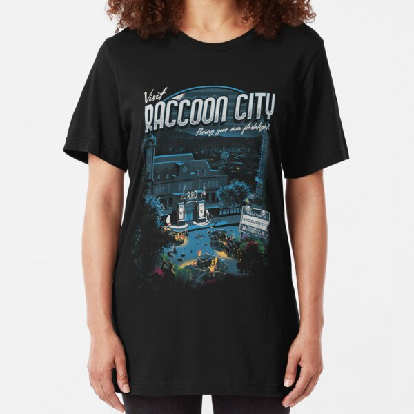 Visit Raccoon City Slim Fit T-Shirt