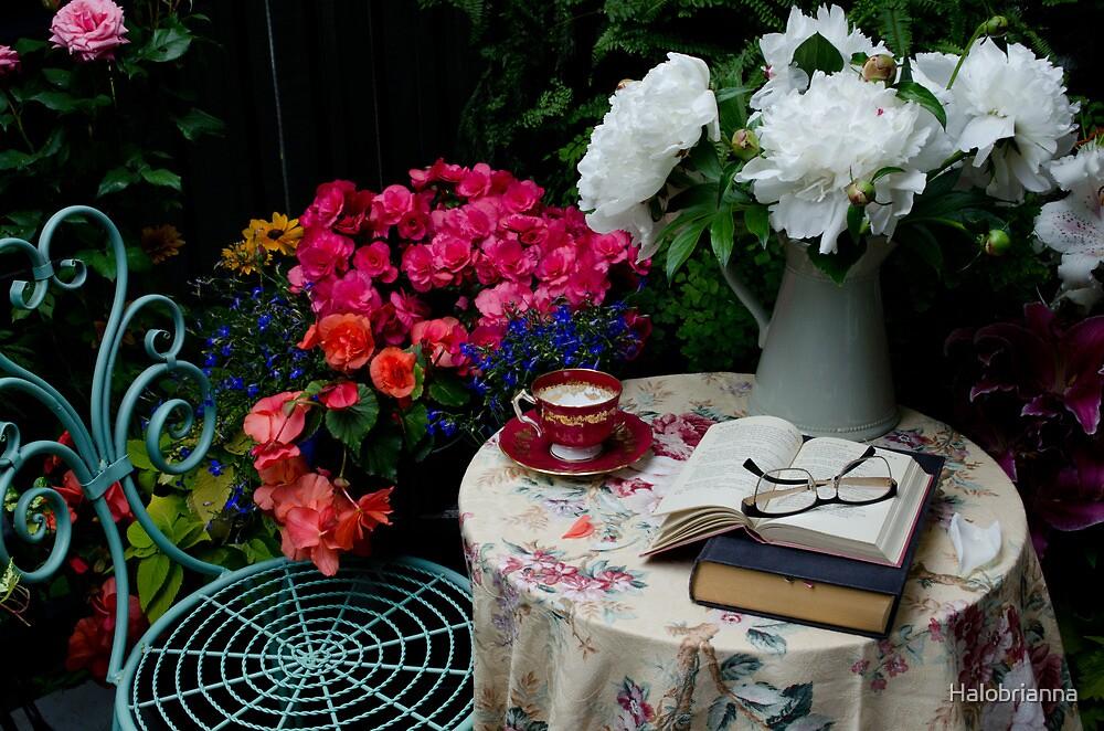 Tea time by Halobrianna