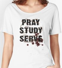 Pray Study Serve: Thorns Women's Relaxed Fit T-Shirt